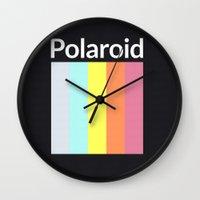 polaroid Wall Clocks featuring Polaroid by Good Sense