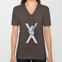 Letter X Unisex V-Neck