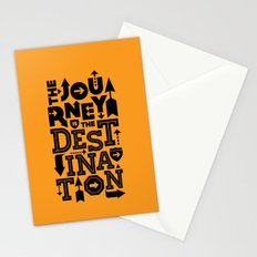 Orange Journey Quote Stationery Cards