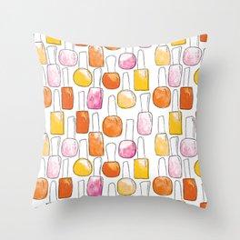 Nail Polish | Orange Palette Throw Pillow