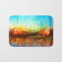 Birch Bark Canoe Bath Mat