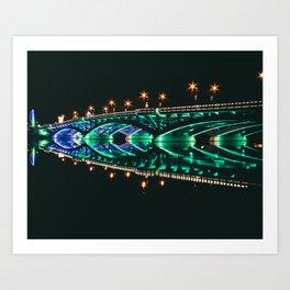 Kenneteh Burn Bridge Art Print