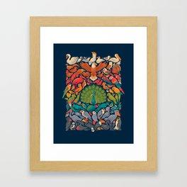 Aerial Spectrum : Blue Framed Art Print