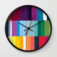 stripes Wall Clocks featuring Stripes by Kakel