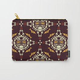 pattern with Tribal mask ethnic on dark Carry-All Pouch