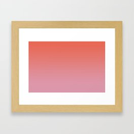 Pantone Living Coral & Sea Pink Gradient Ombre Blend Framed Art Print