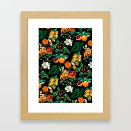 Fruit and Floral Pattern Framed Art Print