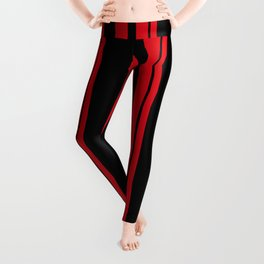 Black and red striped . Leggings