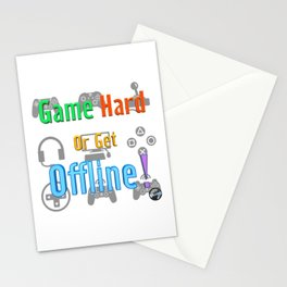 Game Hard or Get Offline! (NUGaming) Stationery Cards