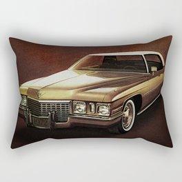 1972 Golden Cadillac Rectangular Pillow
