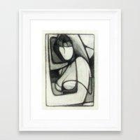 musa Framed Art Prints featuring Musa Hombro by Angel Mira