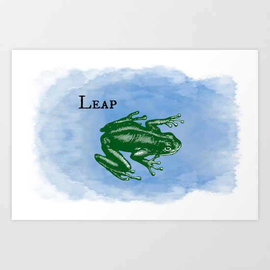 WordPlay : Leap frog Art Print
