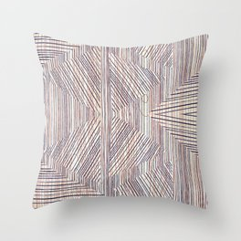wood shapes Throw Pillow