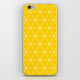 Triangle yellow-white geometric pattern iPhone Skin