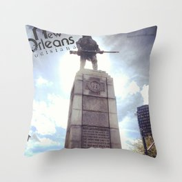 The Soldier of New Orleans Throw Pillow