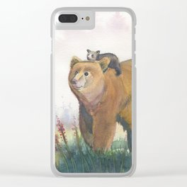 Bear Family Clear iPhone Case