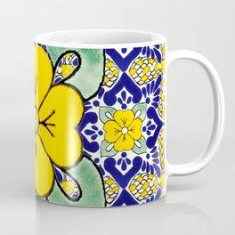 talavera mexican tile in yellow and blu Coffee Mug
