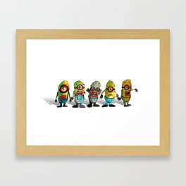 zombie minons Framed Art Print