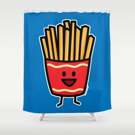 Happy French Fries potato frites fried junk food Shower Curtain