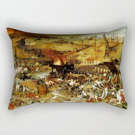 "Pieter Bruegel (also Brueghel or Breughel) the Elder ""The Triumph of Death"" Rectangular Pillow"
