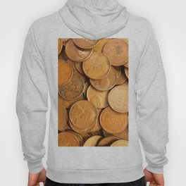 Watercolor Coins, Lincoln Wheat Pennies, 1952 01 Hoody