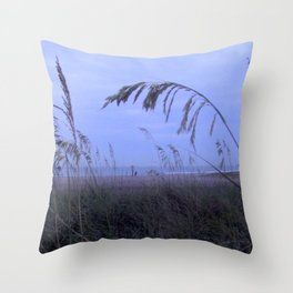 Sea Oats at Fernandina Beach FL Throw Pillow
