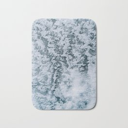 Aerial abstract Ice Patterns - Landscape Photography Bath Mat
