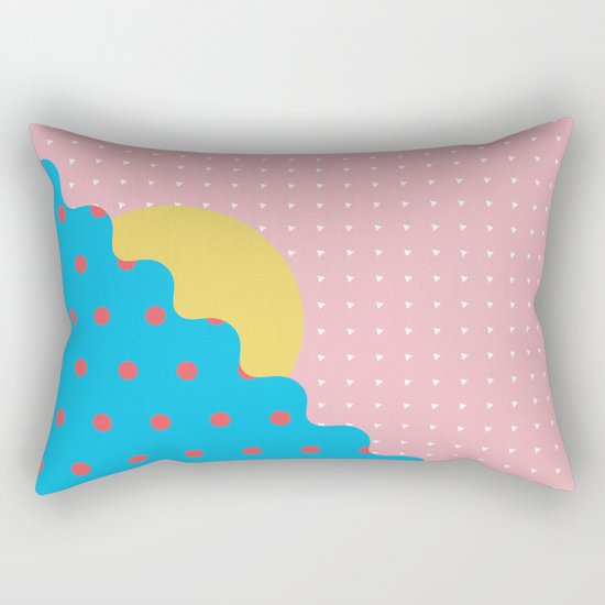 Memphis Style N°6 Rectangular Pillow