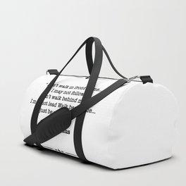 Albert Camus Quote Duffle Bag