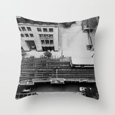 looking down on the tracks ... Throw Pillow