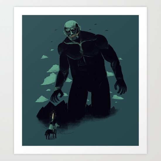 shadow of the titan Art Print