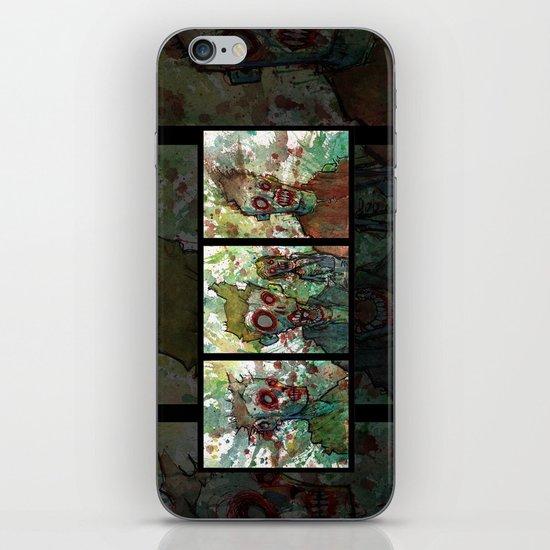 zombie triptych iPhone & iPod Skin