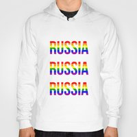 russia Hoodies featuring RUSSIA by Beauty Killer Art