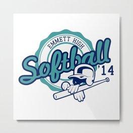 emmett high soft ball logo Metal Print