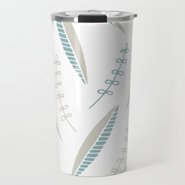 bicolore leaves pattern Travel Mug