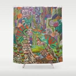 Rainforest Dragons Shower Curtain