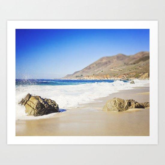 Rocks on Beach, Big Sur, California Art Print