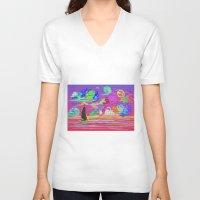 sail V-neck T-shirts featuring Sail by wingnang