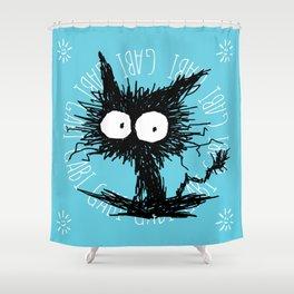 Black Unkempt Kitten GabiGabi Shower Curtain