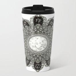 Astrology Signs Mandala Metal Travel Mug