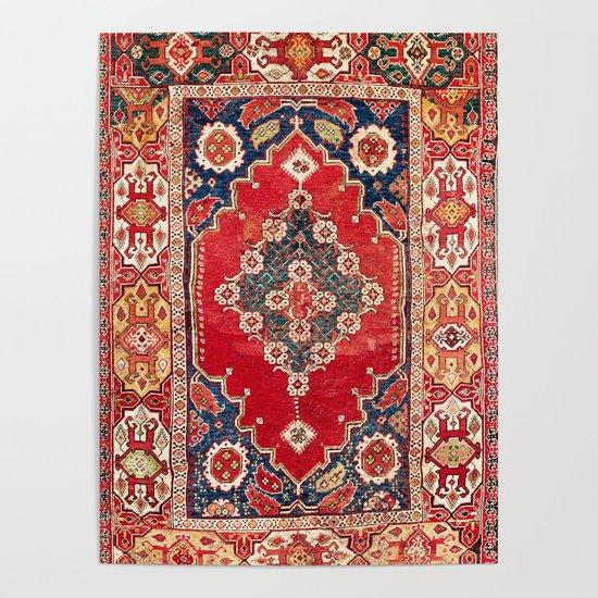 Transylvanian Manisa West Anatolian Niche Carpet Print by vickybragomitchell