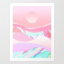 Peach Sun Art Print