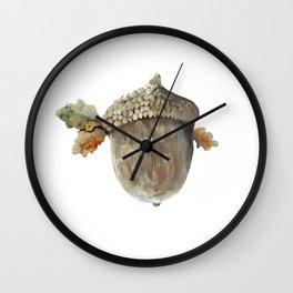 Fall acorn and oak leaves Wall Clock