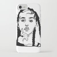 fka twigs iPhone & iPod Cases featuring FKA Twigs by ☿ cactei ☿
