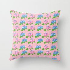 Hydrangea Pattern_D Throw Pillow