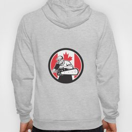 Canadian Tree Surgeon Chainsaw Canada Flag Hoody