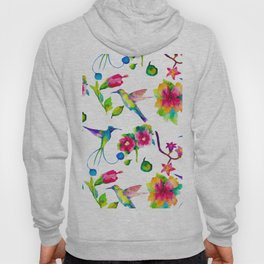 Spring, flowers and colibry Hoody