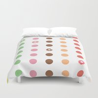 doughnut Duvet Covers featuring DOUGHNUT DOTS by Be Prismatic ™