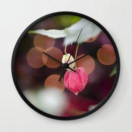 Festive Flowers Wall Clock