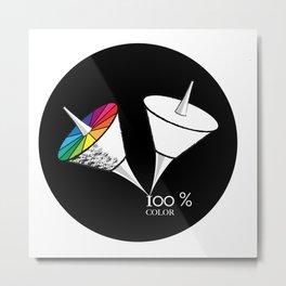 100 % color Metal Print